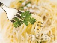 Лесни спагети с магданоз и сушени чушки